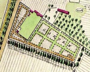 Plan of gardens 1780