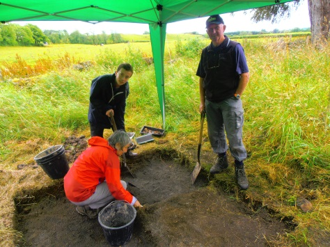 Maggie, Conor and Bill in Trench 2