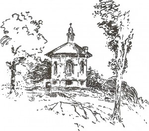 An old drawing of temple