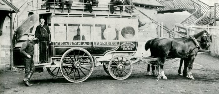 Horse Drawn Bus for Mearns and Giffnock © Heritage Services, East Renfrewshire Culture & Leisure